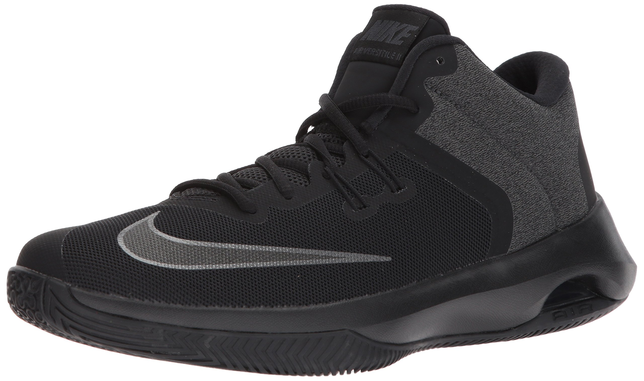 NIKE Men's Air Versitile II NBK Basketball Shoe, Black/Metallic Dark Grey-Anthracite, 12.0 Regular US