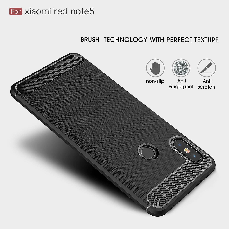 Xiaomi Redmi Note 5 case/Redmi Note 5 Pro case,with Xiaomi Redmi Note 5/Redmi Note 5 Pro screen protector. MYLB (2 in 1)[Scratch Resistant Anti-fall] ...