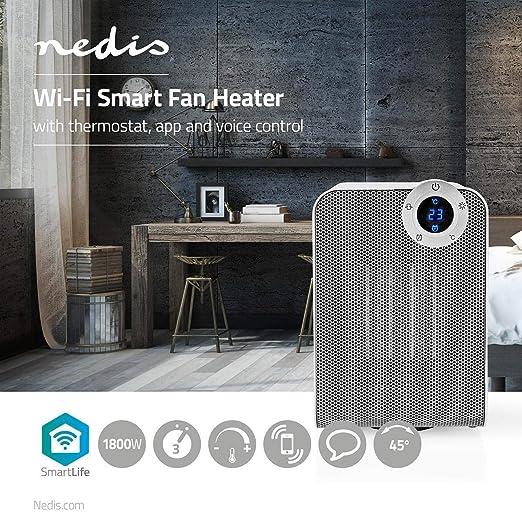 Smart WIFI Ceramic Fan Heater 1800W App