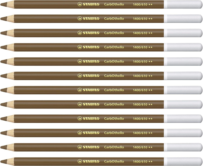 STABILO CarbOthello Pastel Pencil Box of 12 Magenta Premium Colouring Pencil
