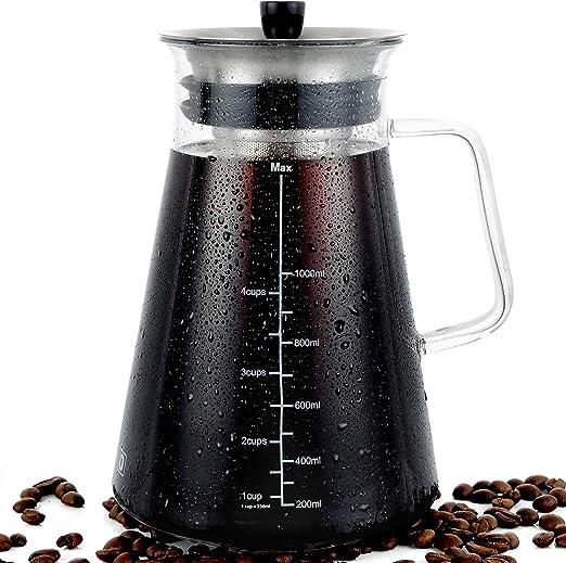 Amazon.com: Cafetera hermética de infusión en frío, cafetera ...