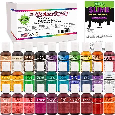 Amazon.com: 30 Color Food Coloring Liqua-Gel Ultimate Decorating Kit ...