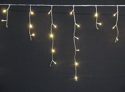 glace pluie Guirlande 144 LED - blanc chaud - Rideau lumineux ...