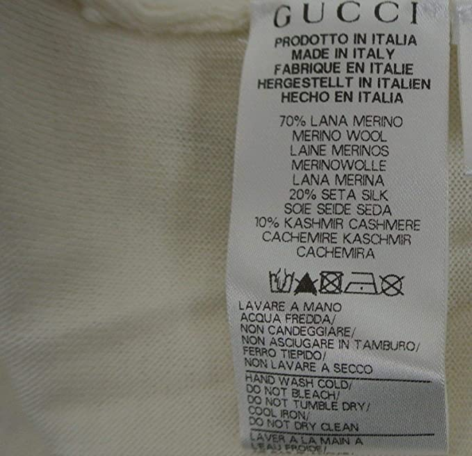 a0dcc80f0 Amazon.com: Gucci Kids White Ruffle Wool/Cashmere / Silk Sweater Top 270714  (Size 4): Clothing