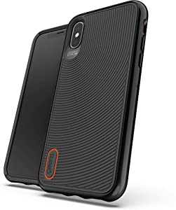 Gear4 Battersea Hardback Case with Advanced Impact Protection [ Protected by D3O ] with Reinforced Back Protection, Slim Design - Made for Apple iPhone Xs/X - Black