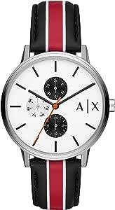 Armani Exchange Men's Analogue Quartz Watch with Leather Strap AX2724