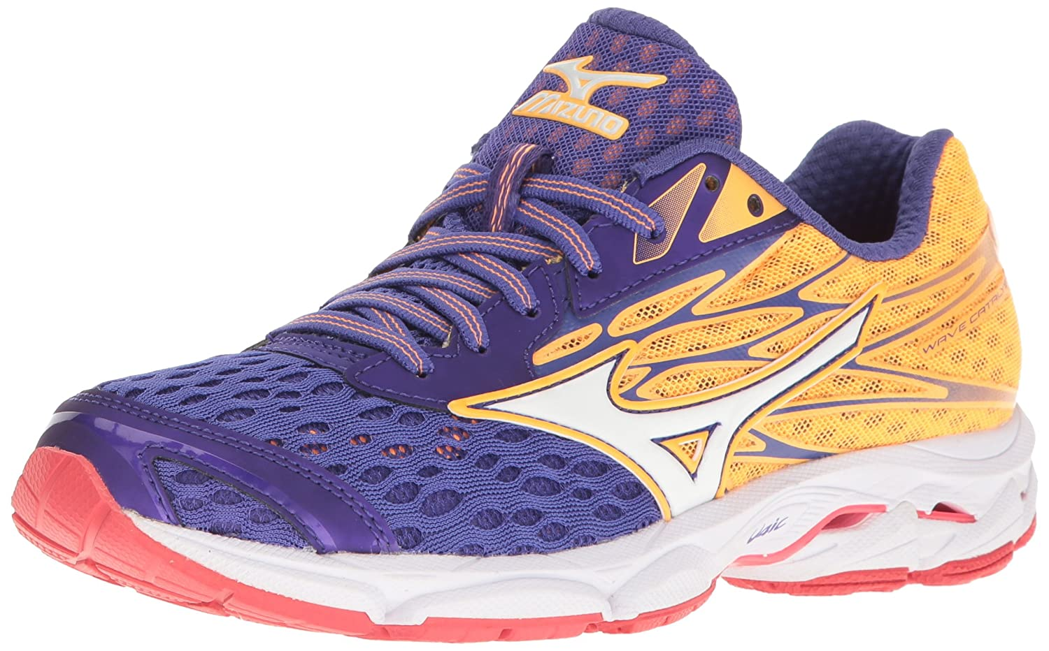 Mizuno Women's Wave Catalyst 2 Running Shoe B01H3EG2YI 10 B(M) US|Purple/Orange Popsicle