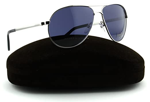 c63cc21fab3 Image Unavailable. Image not available for. Color  Tom Ford FT0144 S MARKO  Shiny Rhodium Frame Blue Lens (18V).