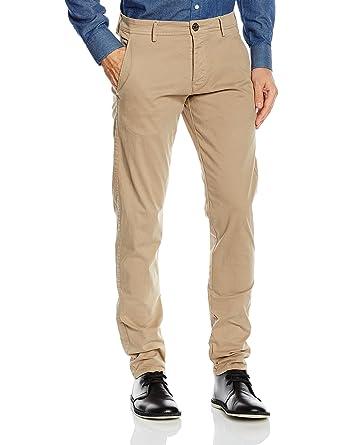 SELECTED Herren Chino Hose 16048096 SHHONELUCA GREIGE ST PANTS NOOS,  Größe:W 38 L