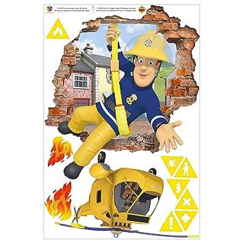 Wandtattoo - Feuerwehrmann Sam - bringt Dich in Sicherheit, 60cm x ...