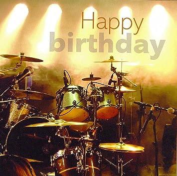 gefeliciteerd drummer Drums on Stage Happy Birthday Card: Amazon.co.uk: Office Products gefeliciteerd drummer