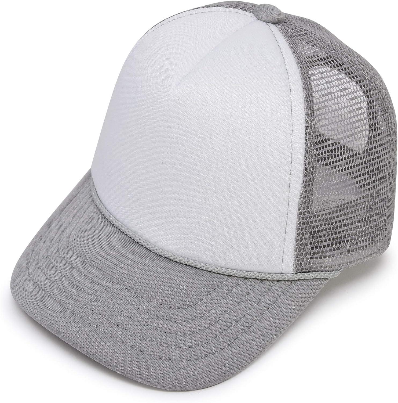 DALIX Infant Trucker Hat Baby Cap Tiny Extra Small Girls Boys in Gray White: Clothing