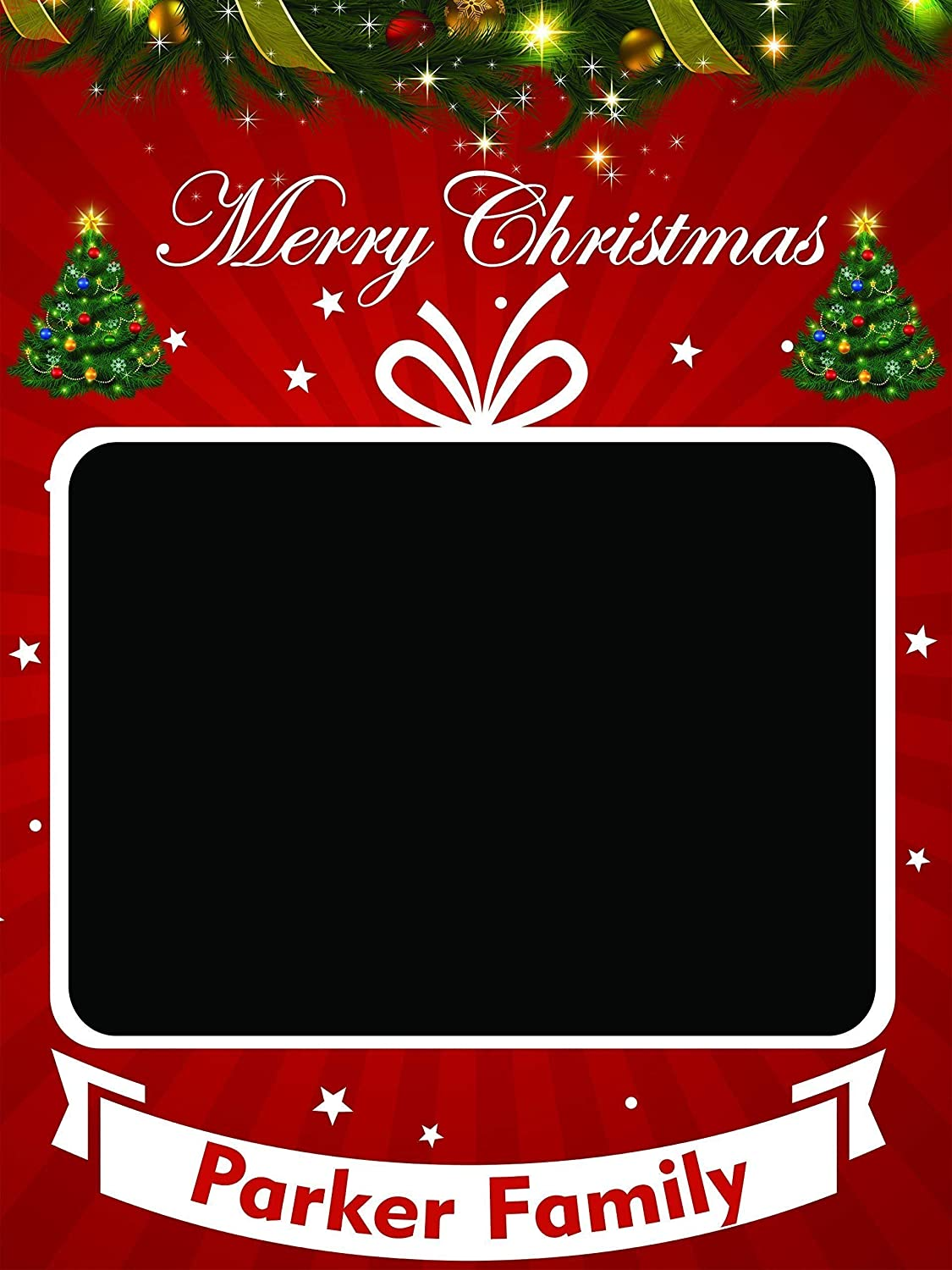 Large Custom Merry Christmas Photo Booth Frame Prop Christmas Tree