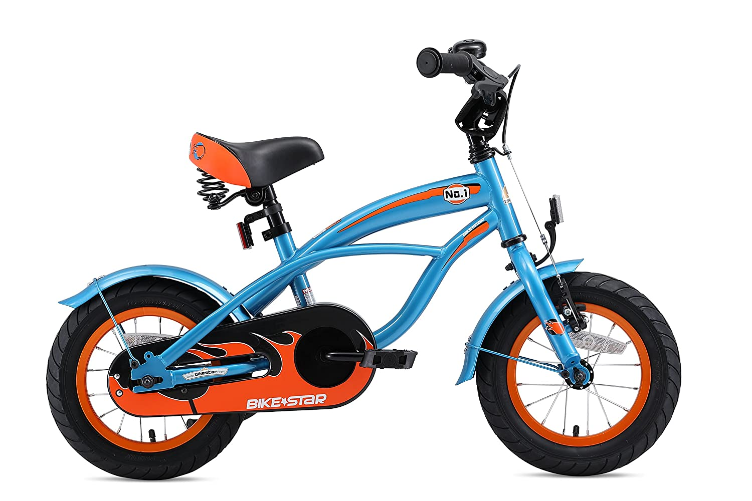 fdb338e8375 Amazon.com : BIKESTAR Original Premium Safety Sport Kids Bike with  sidestand and Accessories for Age 3 Year Old Children | 12 Inch Cruiser  Edition for Boys ...