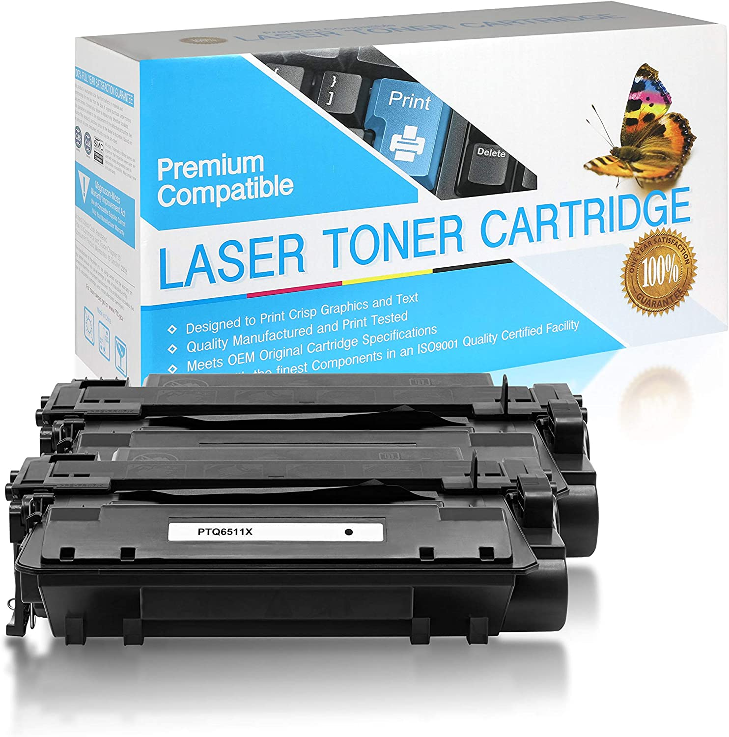 Q2624X Black,1 Pack SuppliesOutlet Compatible Toner Cartridge Replacement for HP 24X