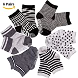 Amazon Price History for:SuPoo 6 Pairs Non Skid Baby Cotton Socks, Soft Anti-slip Socks Baby Toddlers Baby Boy Socks