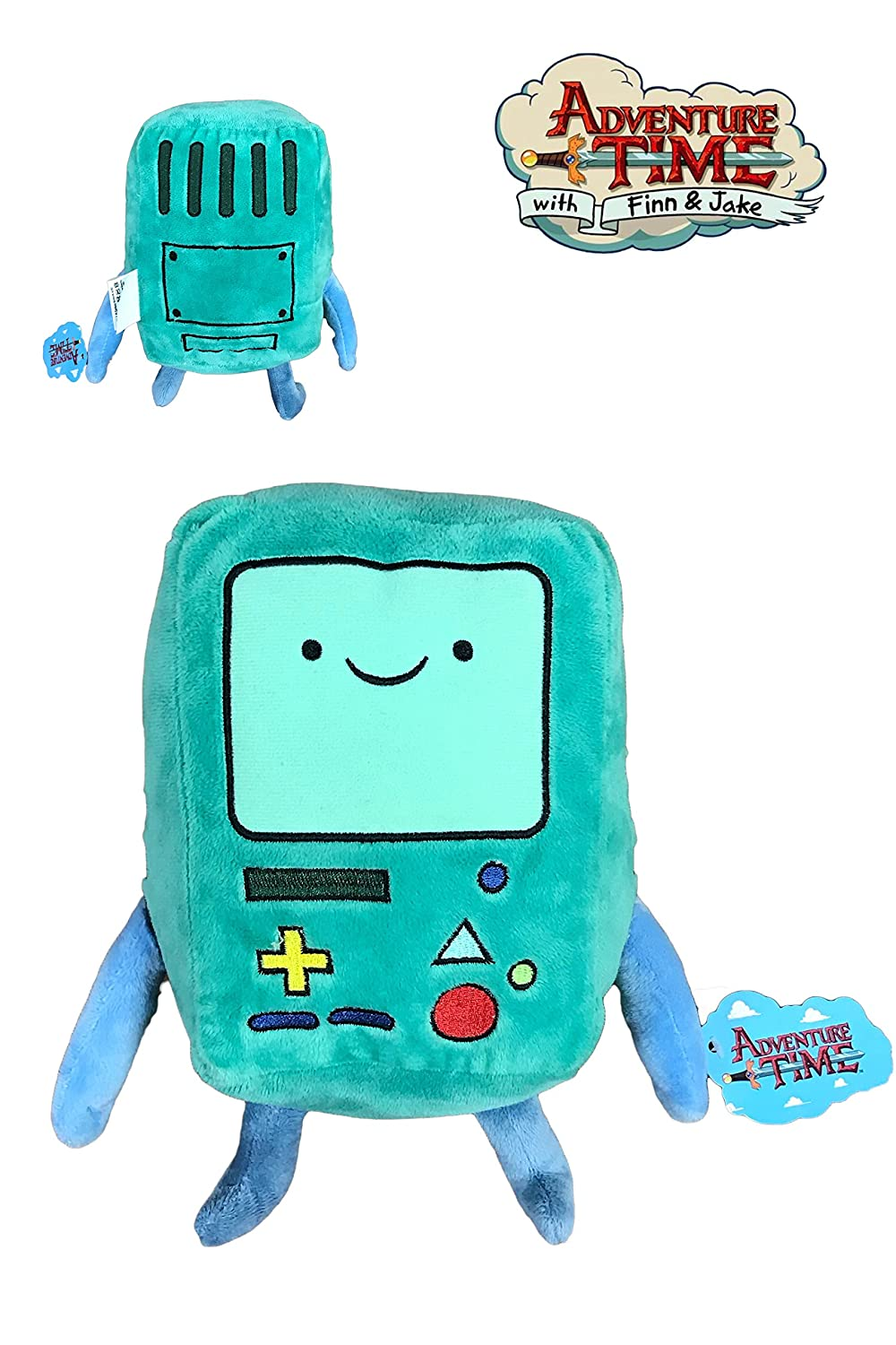 HORA AVENTURA BEEMO PELUCHE VERDE 22CM DE PIE 18CM SENTADO CALIDAD SUPER SOFT CARTOON NETWORK