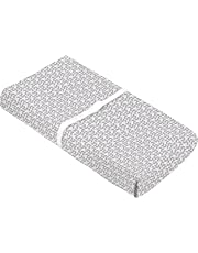 Kushies Baby Contour Change Pad Cover Ultra Soft 100% Cotton Flannel, Made in Canada, Grey Petal