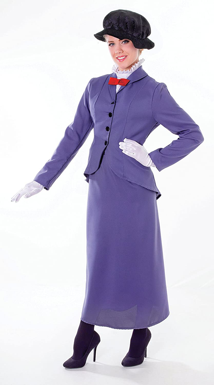 f7d138e19 Ladies Nanny Costume for Victorian Edwardian Poppins Fancy Dress ...