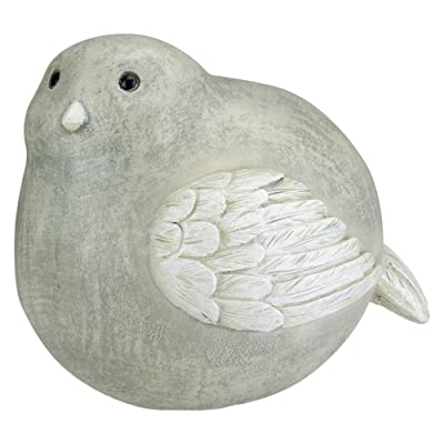 "Roman 8"" Pudgy Pals Weather Finished Gray and White Bird Outdoor Garden Statue Figure : Garden & Outdoor"