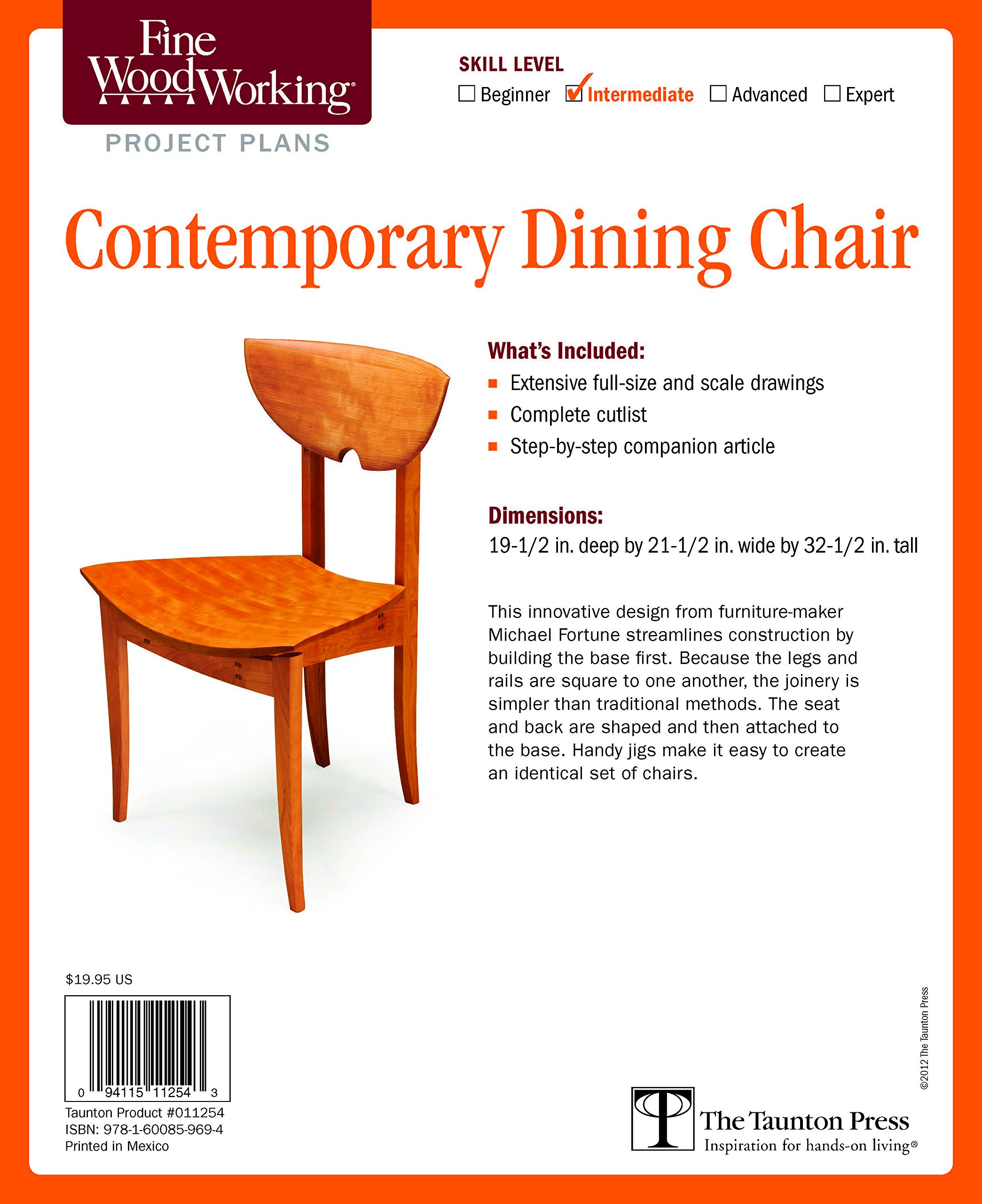 Fine Woodworking s Contemporary Dining Chair Plan Michael Fortune