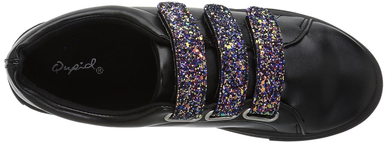 Qupid Women's Moira-06A Sneaker B074NH4G6L 9 B(M) US|Black