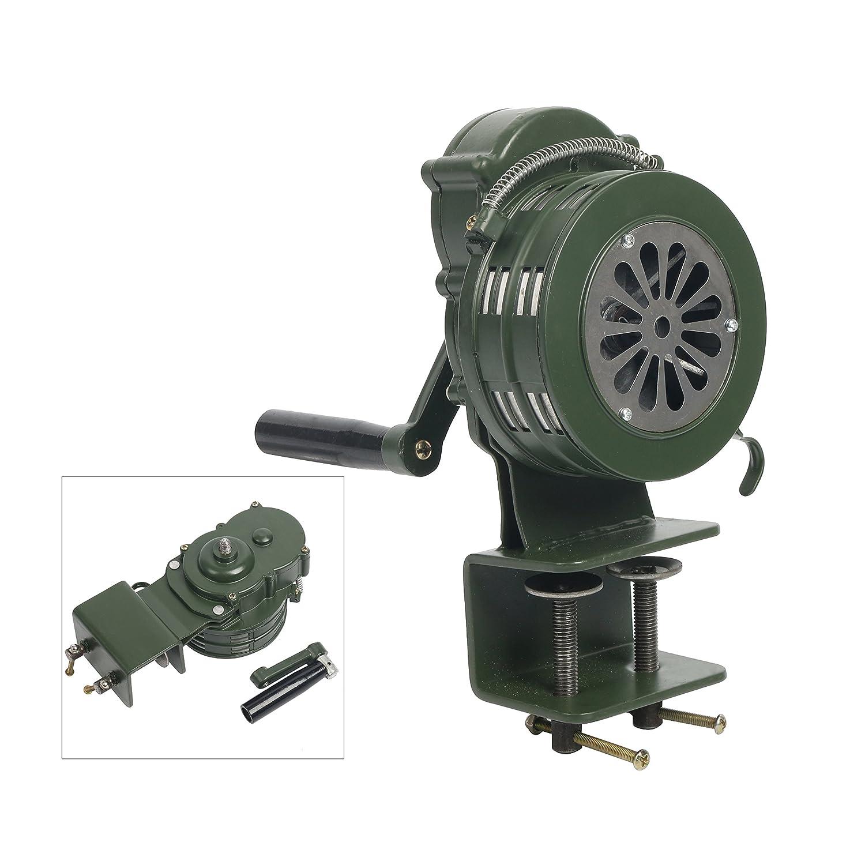 YaeTek Heavy Duty Hand/Manual Crank Alarm/Siren (Air Raid) with Rail Stand Base Yaemart Corportation