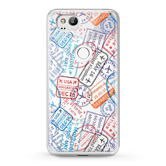 Lex Altern Tpu Case Google Pixel 2 3 Xl 2016 Clear Travel Stamps Silicone Passport Pattern Adventure Foreign Colorful Phone Cute Cover Print