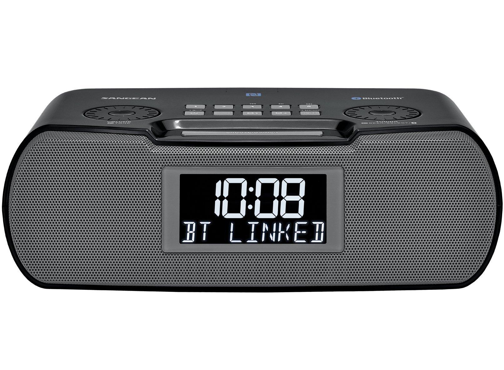 Sangean RCR-20 FM-RDS (RBDS) AM/Bluetooth/Aux-in/USB Charging Digital Tuning Clock Radio (Renewed)