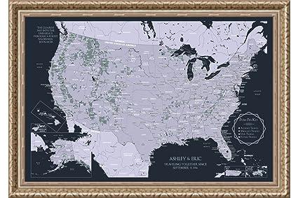 Amazon.com: Custom National Park Wall Map - Personalized US ...