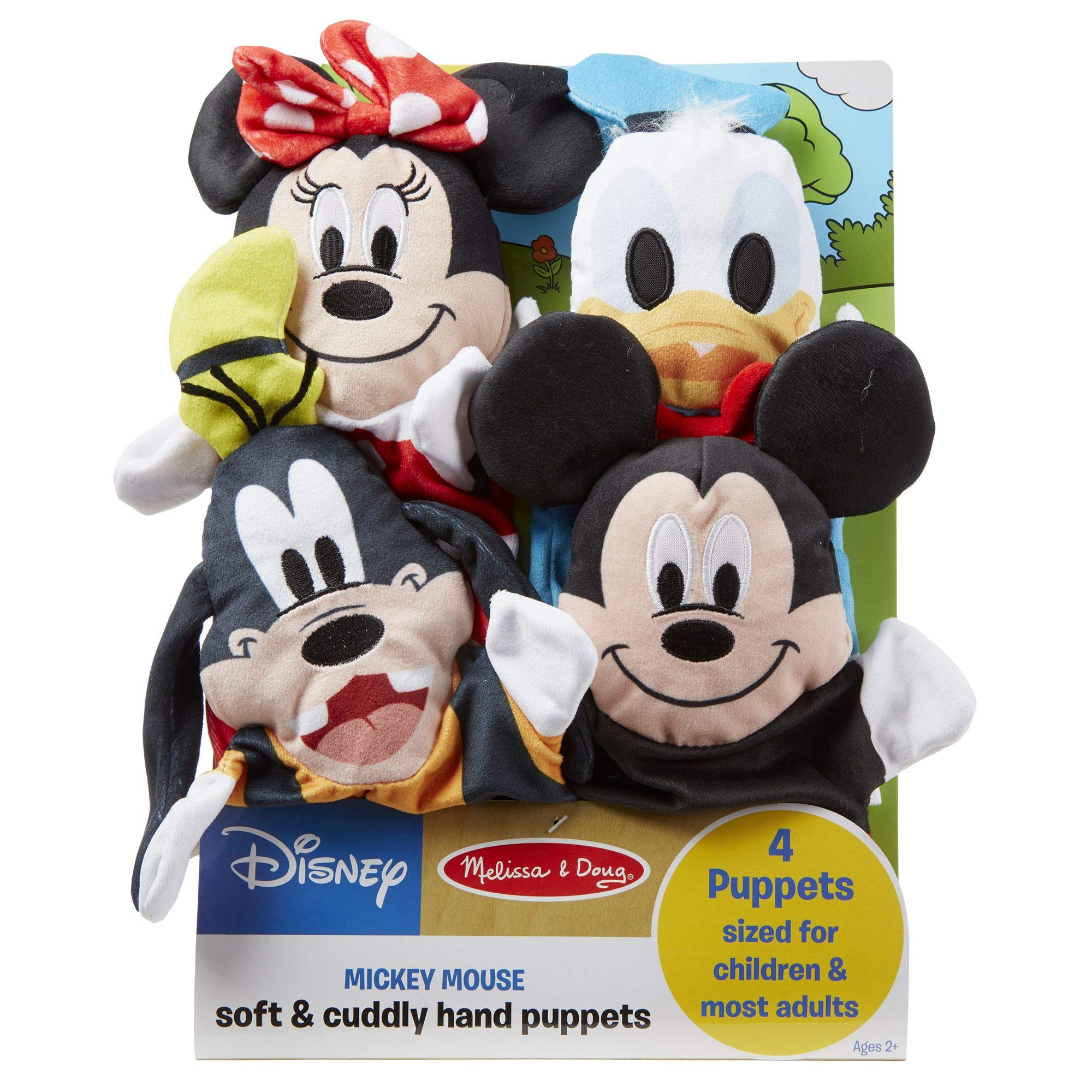 "Melissa & Doug Mickey Mouse & Friends Hand Puppets; Puppet Sets; Mickey, Minnie, Donald, and Goofy; Soft Plush Material; Set of 4; 9.5"" H x 14.2"" W x 2.1"" L by Melissa & Doug (Image #7)"