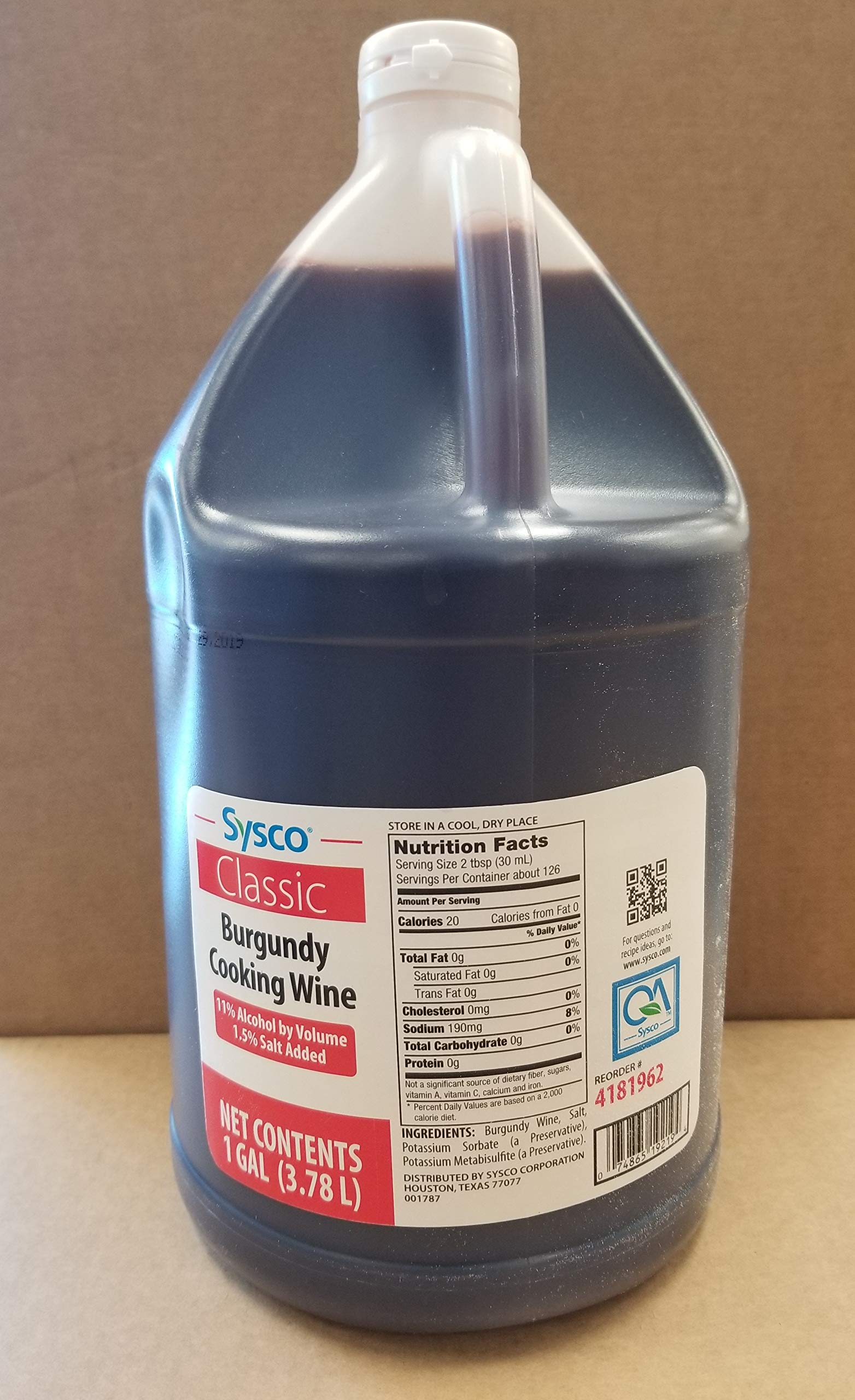 Burgundy Cooking Wine 1Gal (3.78L) by Sysco (Image #1)