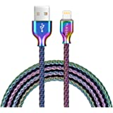 Lightning Cable,[MFi Certified] Fantany 6.6ft Metal USB Lightning Charging Cable Compatible with iPhone Xs,XS Max,XR,X,8 Plus,7,7 Plus,6,6s Plus,SE,iPad Mini,iPad Air,iPod Touch (6.6ft, Colourful)
