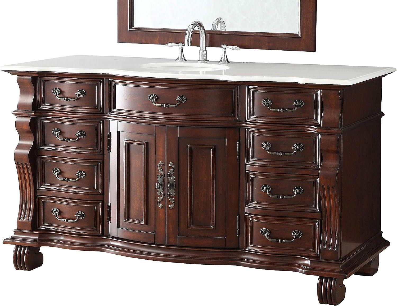 60 Large And Spacious Single Sink Bathroom Vanity Cabinet Model Dg 4437w 60 Hopkinton Single Sink Bathroom Vanity With Top Amazon Com