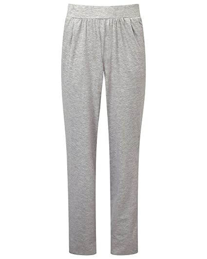 Cotton Traders Womens Ladies Jersey Trousers - 30 quot  (76cm) Inside Leg  Grey Marl 4f4e32a1a4