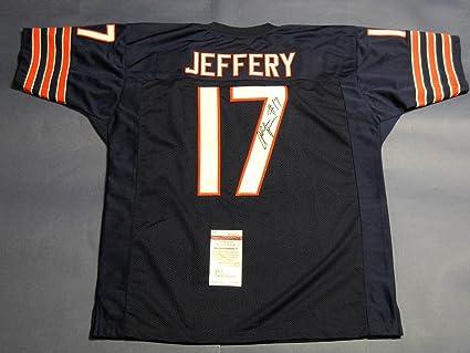 premium selection c3fe3 6f411 Alshon Jeffery Autographed Jersey - JSA Certified ...
