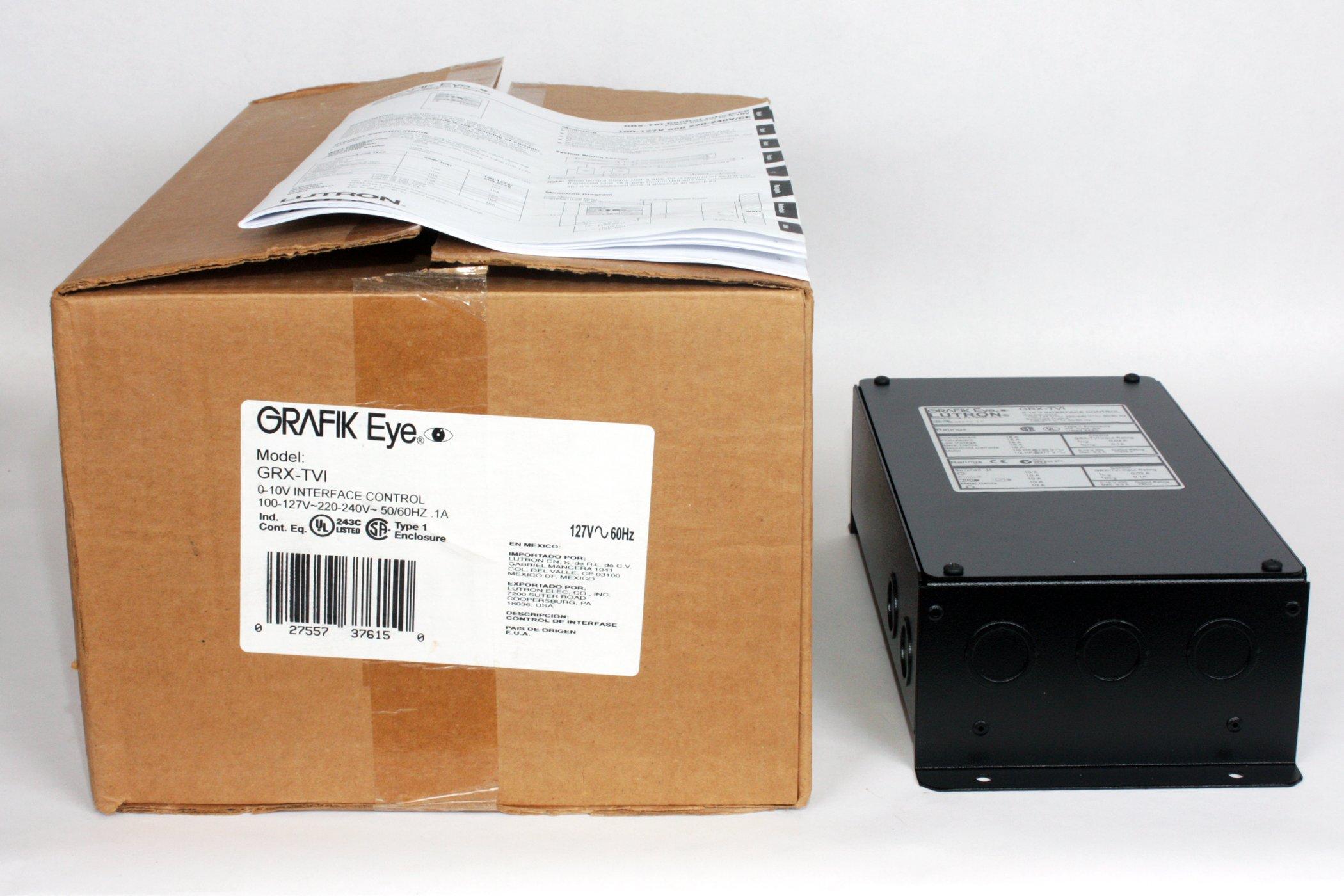 Lutron GRX-TVI Wallmount 10 Volt Power Interface and Switch Module 100 - 277 Volt Ivory