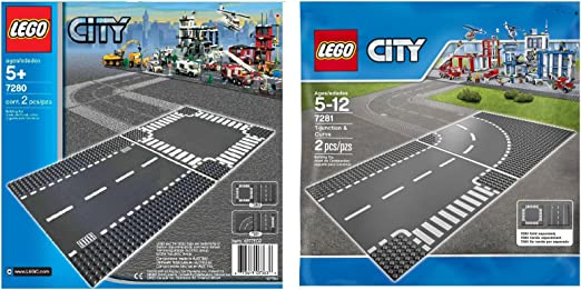 LEGO City Crossroad Street Road Base Plate Baseplate 7280 New