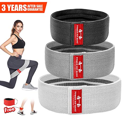0ddd64dd4 Hip Resistance Bands for Legs and Butt Exercise Workout Booty Hip Band  Heavy Fabric Cloth Resistance