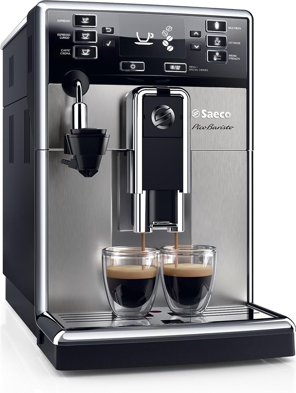 Saeco PicoBaristo Cafetera expreso súper automática, 1850 W, 1.8 litros, Acero inoxidable, negro y plata: Amazon.es: Hogar