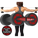 Amazon's #1 Portable Fitness Product - POWER REELS - The Best, Most Effective Constant Resistance Exercise Product. Full Body Home Gym Workout : Abs, Core, Arms, Legs, Chest, Back, Shoulders.