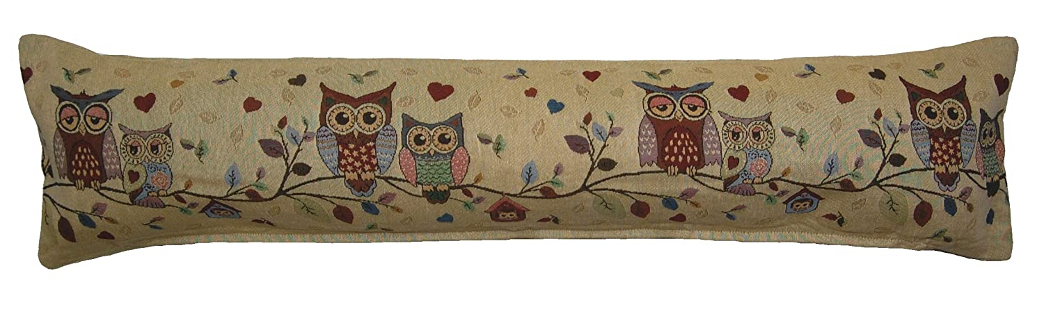 Cache Design's Traditional Tapestry Winter Warmer Zip Cover Door Padded Draught Draft Excluder (Home Sweet Home Flowers) PHX