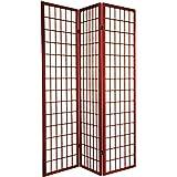3-panel Shoji Room Screen Privacy Divider - Cherry
