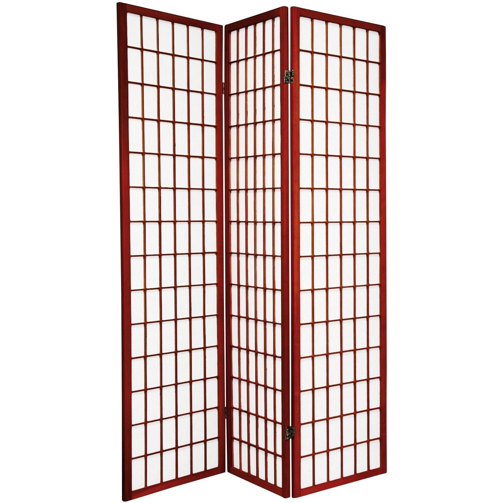 Legacy Decor 3 Panel Japanese Oriental Style Room Screen Divider Cherry Color