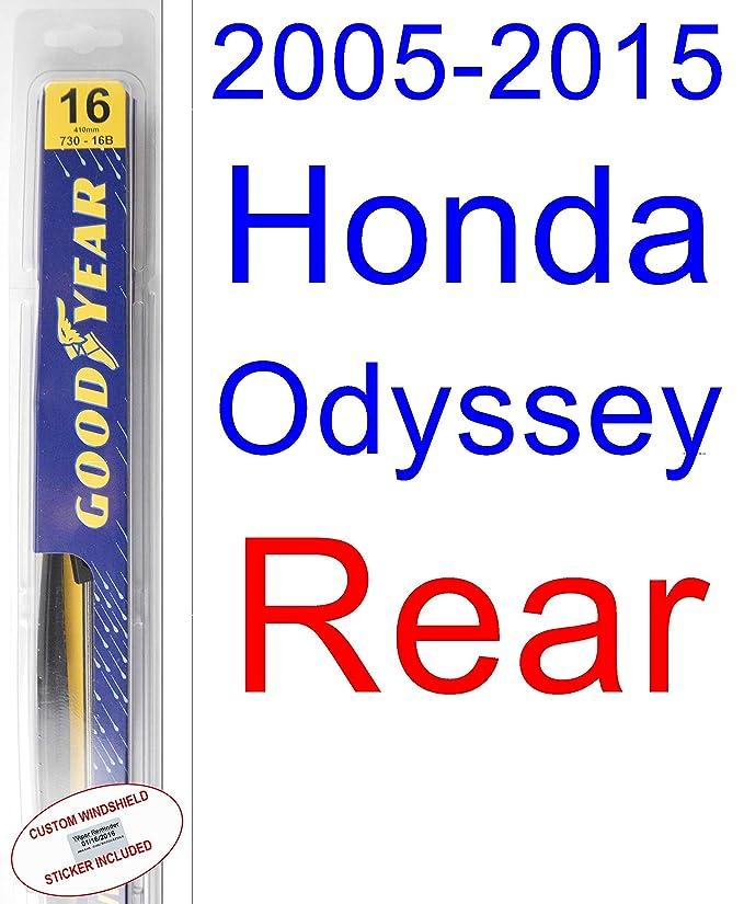 Amazon.com: 2005-2015 Honda Odyssey Wiper Blade (Driver) (Goodyear Wiper Blades-Hybrid) (2006,2007,2008,2009,2010,2011,2012,2013,2014): Automotive