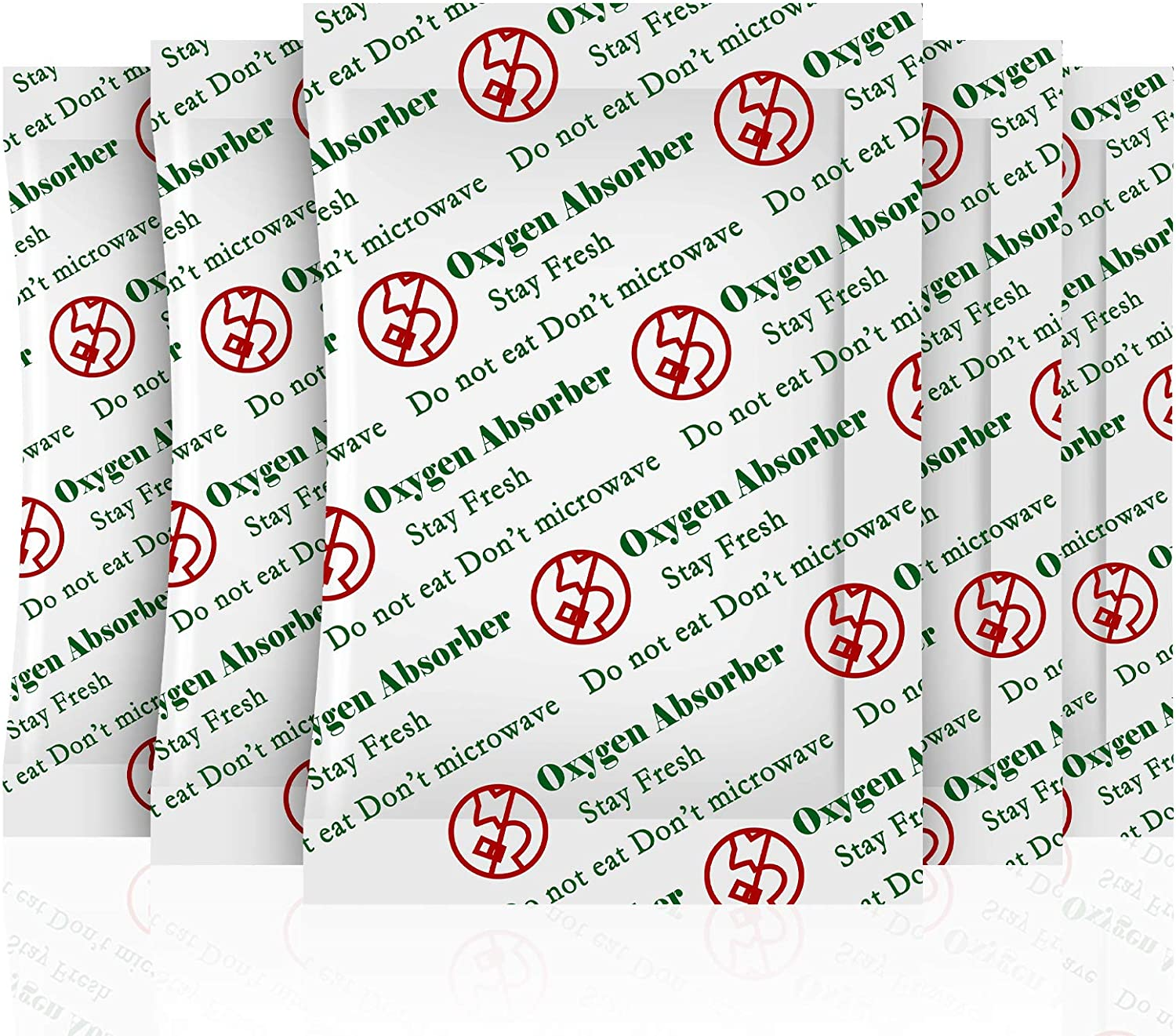 SurpOxyLoc(50Sachets)500cc Oxygen Absorbers for Food Storage, Food Grade Oxygen Absorbers Packets for Food