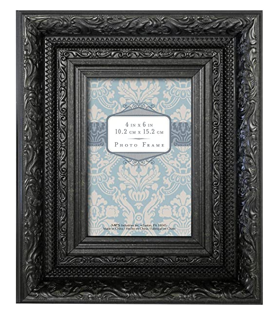 Amazon.com - MCS Ornate Vintage Wall or Tabletop Frame, Black, 4x6 ...