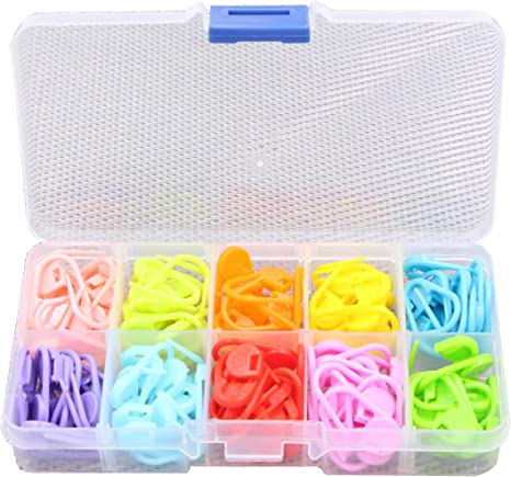Plastic Locking Needle Stitch Markers Holders For Crochet Knitting Craft Clip