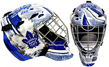 62b818314 Ed Belfour Signed Toronto Maple Leafs Franklin Replica Hockey Goalie Mask -  Autographed NHL Helmets and