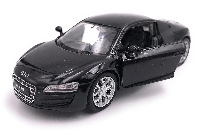 39 Negro 34-1 Welly Audi R8 Sports Car Model Car Auto Producto con Licencia 1